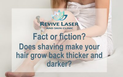 Fact or fiction? Does shaving make your hair grow back thicker and darker?