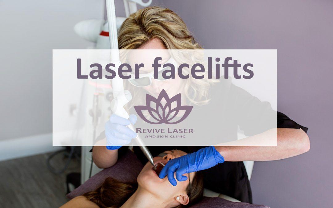 woman receiving laser facial treatment | Revive Laser